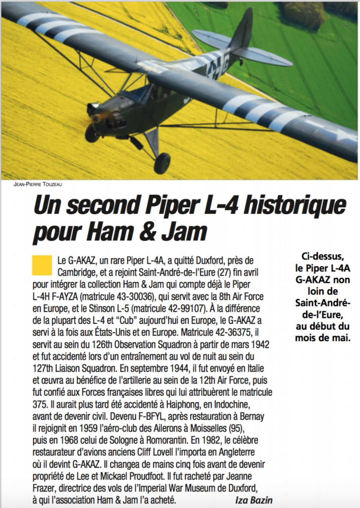 Article Fana de l'Aviation - Juin 2016 - N°559