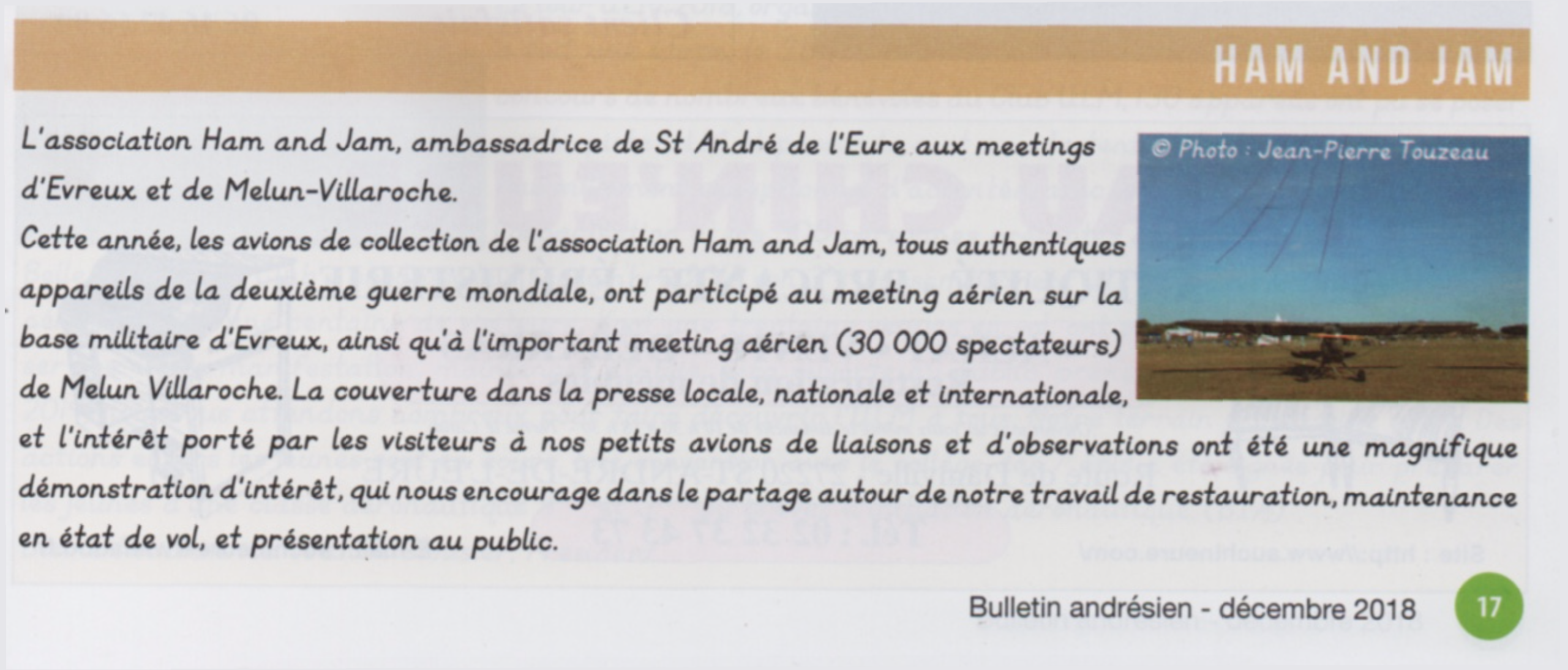 Article magazine St André