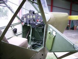 La cabine identique à ce qu'elle était en 1944